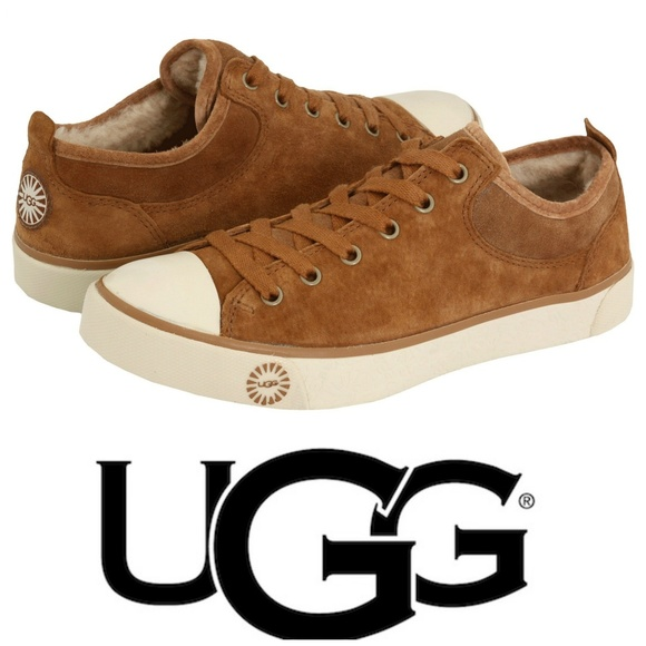 4527e9c8994 UGG Evera Sz 10 Chestnut Suede Sneakers Shearling